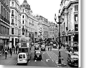 """10.0"""" x 7.5"""" Canvas Wall Art, Ready to Hang, London, England, City Street, Fine Art Travel Photography by Glennis Siverson"""