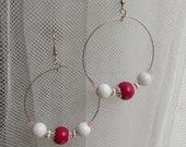 Beaded hoop earrings summer fashion