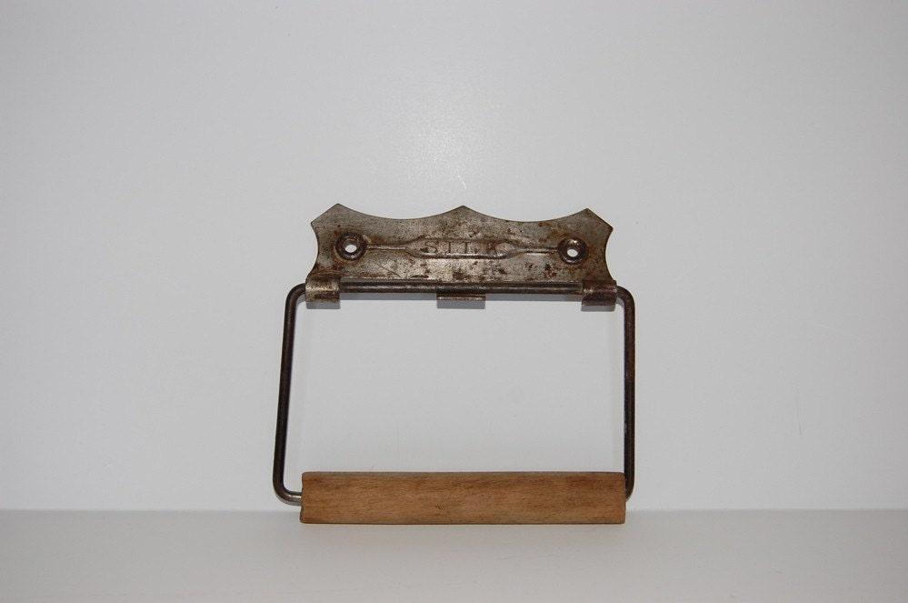 Early 1900 39 S Silk Toilet Paper Holder Metal Wood