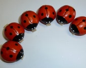 Ladybug Clothespin Clips Too Cute Set of 6