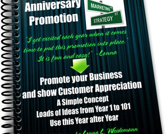 BUSINESS ANNIVERSARY PROMOTION e-Project Download Easy to Implement Using Years in Business to Coordinate with your Event