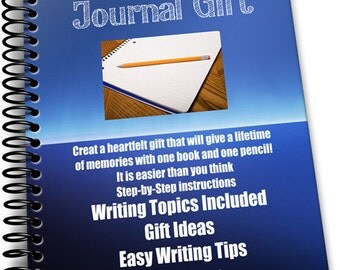 New Create a Journal Gift e-project Download How To Instructions