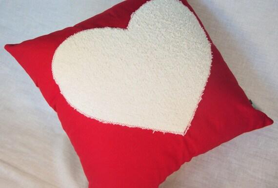 Accent Pillow Chenille Heart
