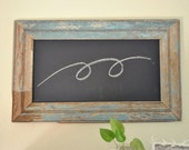 Farmhouse Chalkboard with Very Old Blue Moulding