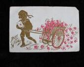 Best Wishes Vintage Postcard/Craft Supply/Antique       1908