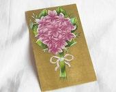 Violet Bouquet Vintage Postcard Nosegay
