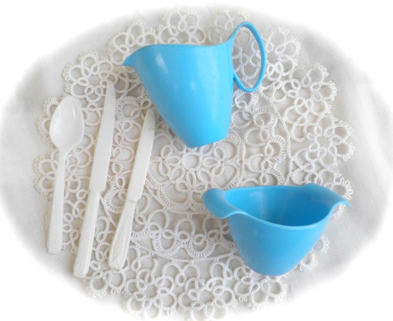 Toy Tea Set Cream and Sugar Servers