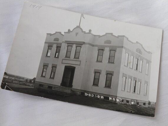 Dodson, Montana 1919 - Real Place Vintage Photograph Postcard