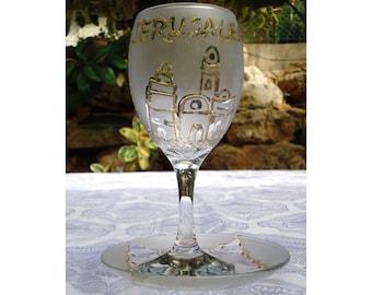 Shabbat Kiddush Cup - Jerusalem Hand Etched and Gold