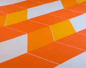 Vintage Mod Bedspread Geometric Chevron Queen/Double - Bates USA
