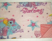 My Little Pony Non Ribbon Fleece Blanket with Minky Dots 30x36