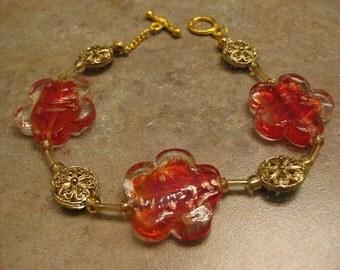 Red Blossom Bracelet
