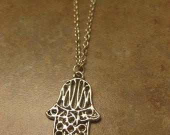 Hamsa jewelry,  Hamsa Necklace , Hamsa Charm - Hamsa Pendant - hand of Miriam hand of Fatima jewelry Jewish jewelry