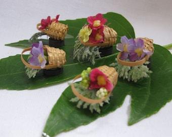Weekend SALE: Fun Flower Basket Miniature Fridge Magnets