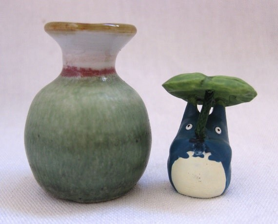 Tiny Tropics Of Totoro Miniature Porcelain Vase