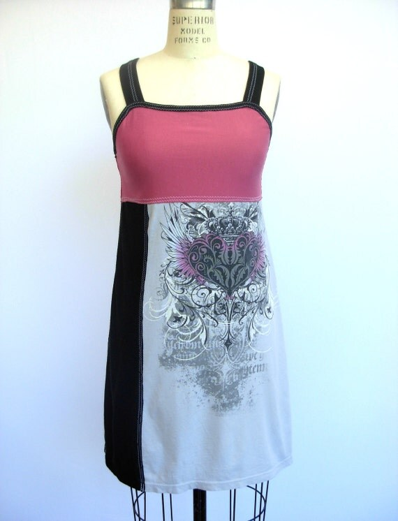 Wild Hearts nighTee - Upcycled Cotton Sleepwear, size 0-2