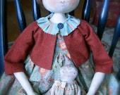 "Primitive Folk Art doll ""Bernadette"""