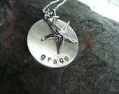 Sterling Silver Personalized Starfish Necklace