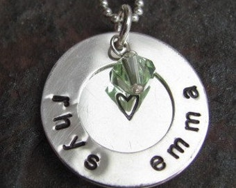 Overlapped Mothers Sterling Silver Personalized Necklace