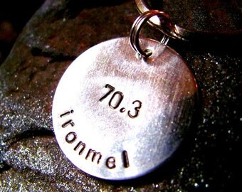 Personalized Hand Stamped Sterling Silver Key Chain