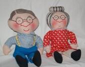 Vintage Grandma and Grandpa Dolls