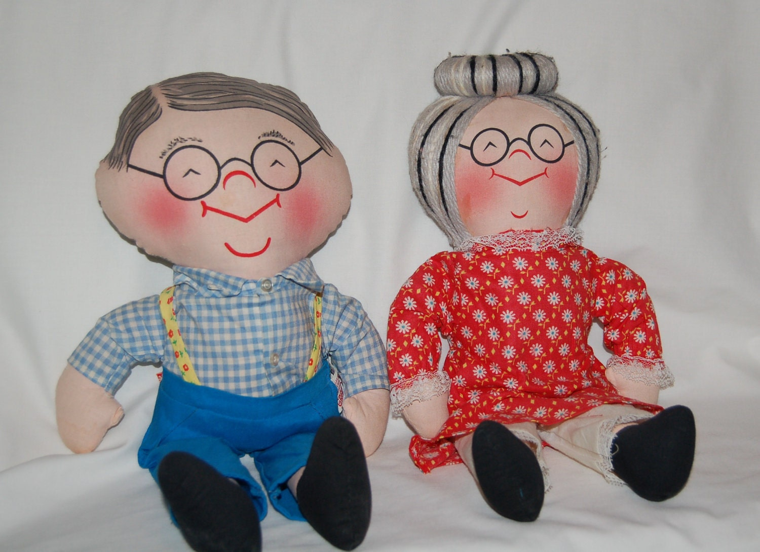 Vintage Grandma and Grandpa Dolls by vintagetoledo on Etsy Zero Nightmare Before Christmas Pictures