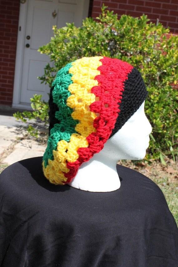 "Kingston Cap, ""Rasta"" colors (3 row color change)"