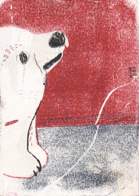 Polar Bear Hand-Pulled Print - Baby Bear - Limited Edition