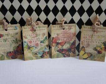Butterfly Hang Tags - Set of 4