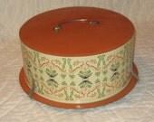 Vintage Cake Carrier / Holder / Tray - Metal