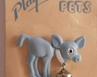 Vintage Children's Figural Baby Calf Pin-New on Store Display Card