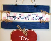 Wooden Personalized Home Sweet Home Heart Sign