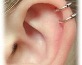 Cartilage Ear Cuff - Double Wire - Sterling Silver - SINGLE SIDE