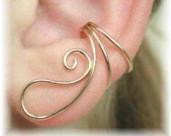 Ear Saver Ear Cuff - Gold Filled or Sterling Silver - SINGLE SIDE