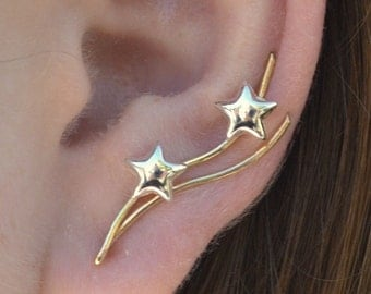 Stars Earring Pin - 14K Gold Filled and Sterling Silver - SINGLE SIDE