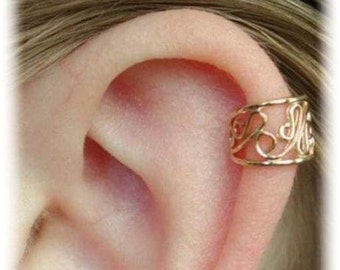 Filigree Cartilage Ear Cuff - 14K Gold Vermeil