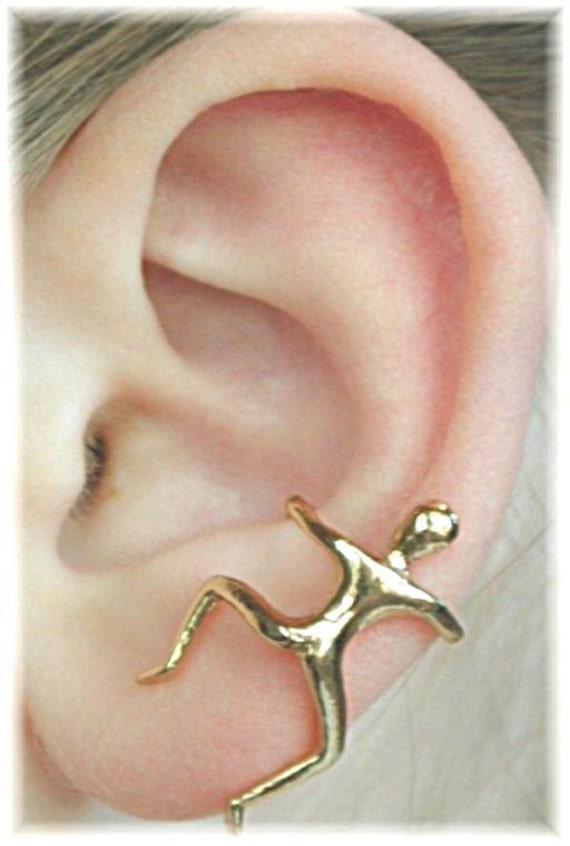 Man Ear Cuff - Sterling Sillver