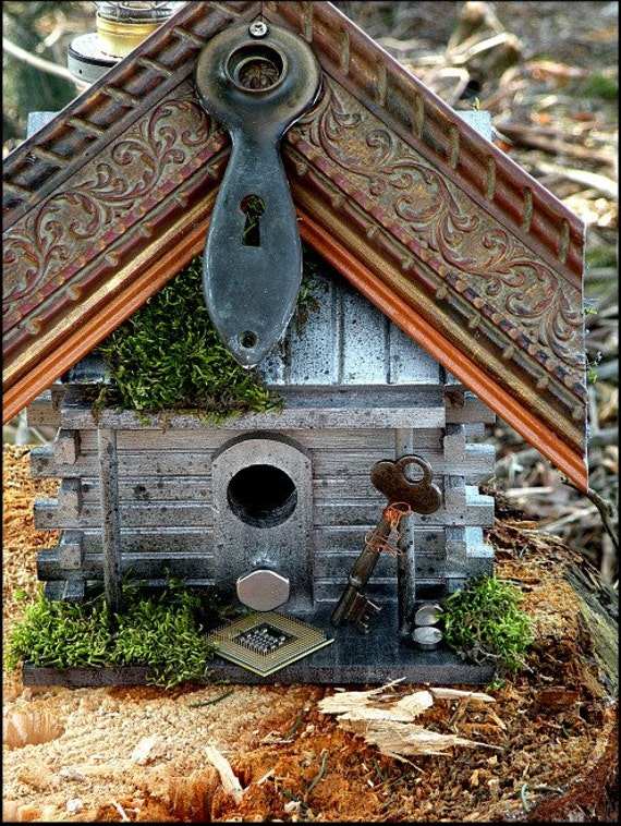 Recycled Upcycled Handmade Bird House