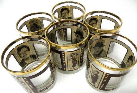 Reserved for Shirley Jackson Set of 6 Houze Art 'Roaring Twenties' bar glasses