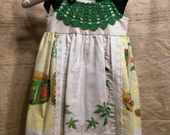 Vintage Tablecloth Dress Size 14 to 22 Months