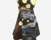Hand Painted Starry Night strapless dress / costume size 6-8 NEW SALE PRICE