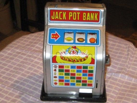 Vintage Jack Pot Slot Machine Bank