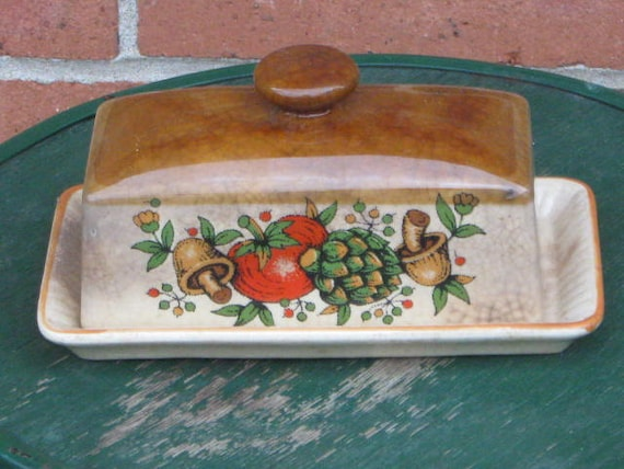 RESERVED for the SCHINDLERS:  Vintage Butter Dish