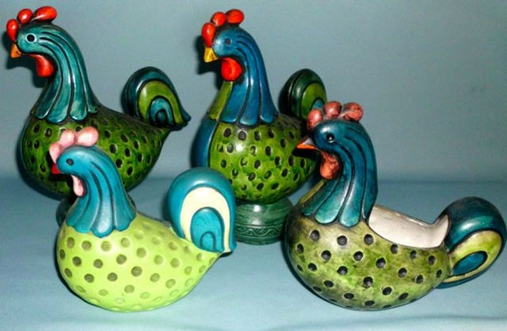 RESERVED for Sheri:  Norleans Roosters and Hens Collection