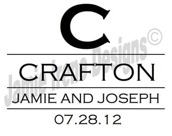 Custom Designed Wedding Monogram or Logo, Great for Gobos, Invitations, Seating Charts, Programs, Menu Cards and More