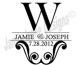 Custom Designed Wedding Monogram