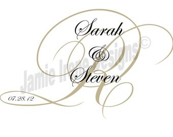 Custom Designed Digital Printable Wedding Monogram