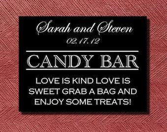Wedding Reception Candy Bar Sign