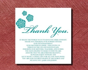 Wedding Thank You Place Setting Card DIY
