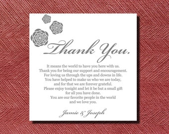 305 Printed Wedding Reception Thank You Place Setting Cards